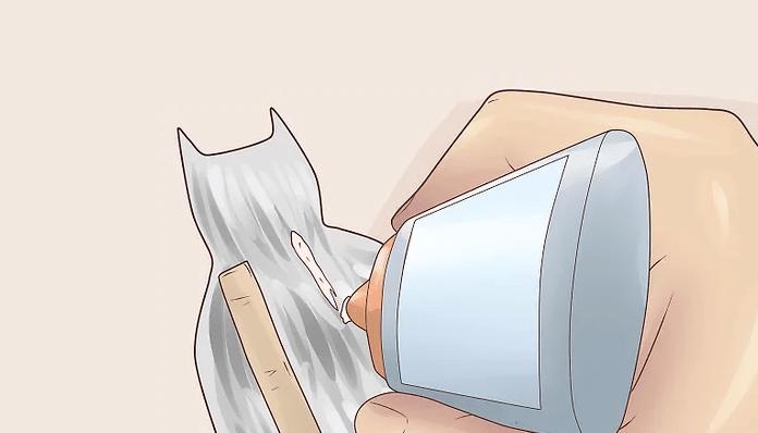 Pegaremos la varilla de carton