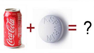 Efectos que produce la aspirina con Coca-Cola